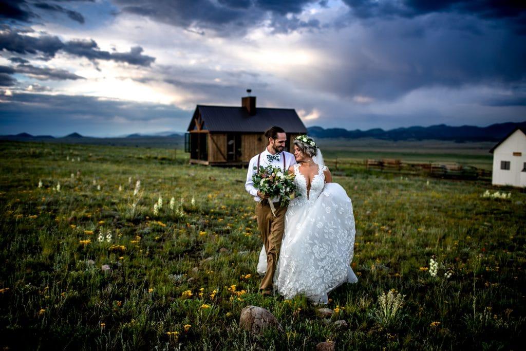 Colorado bride and groom at three peaks ranch
