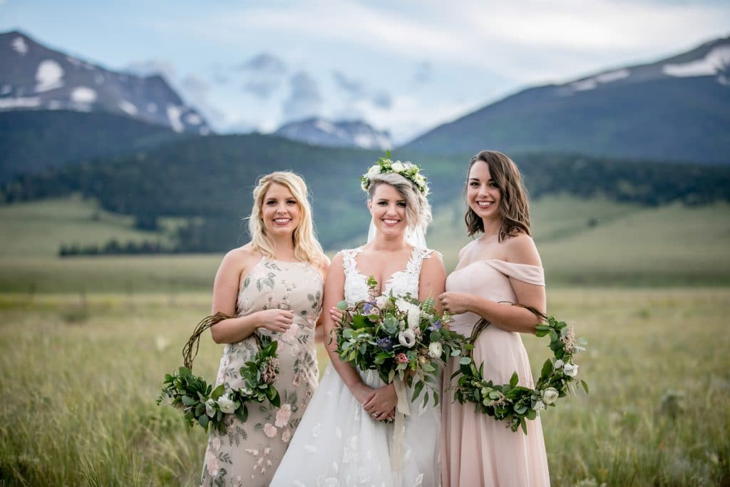 bridesmaids at colorado wedding venue